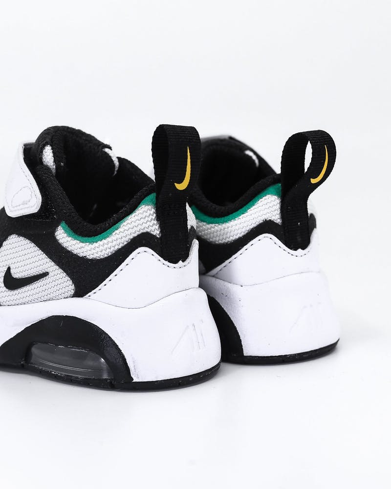 NIKE TODDLER AIR MAX 200 (TD) WHITE/BLACK/CRIMSON