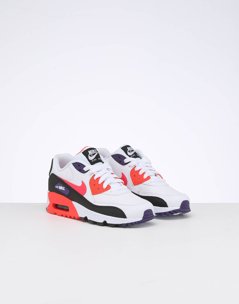 Nike Kids Air Max 90 Leather (GS) WhiteMulti Coloured