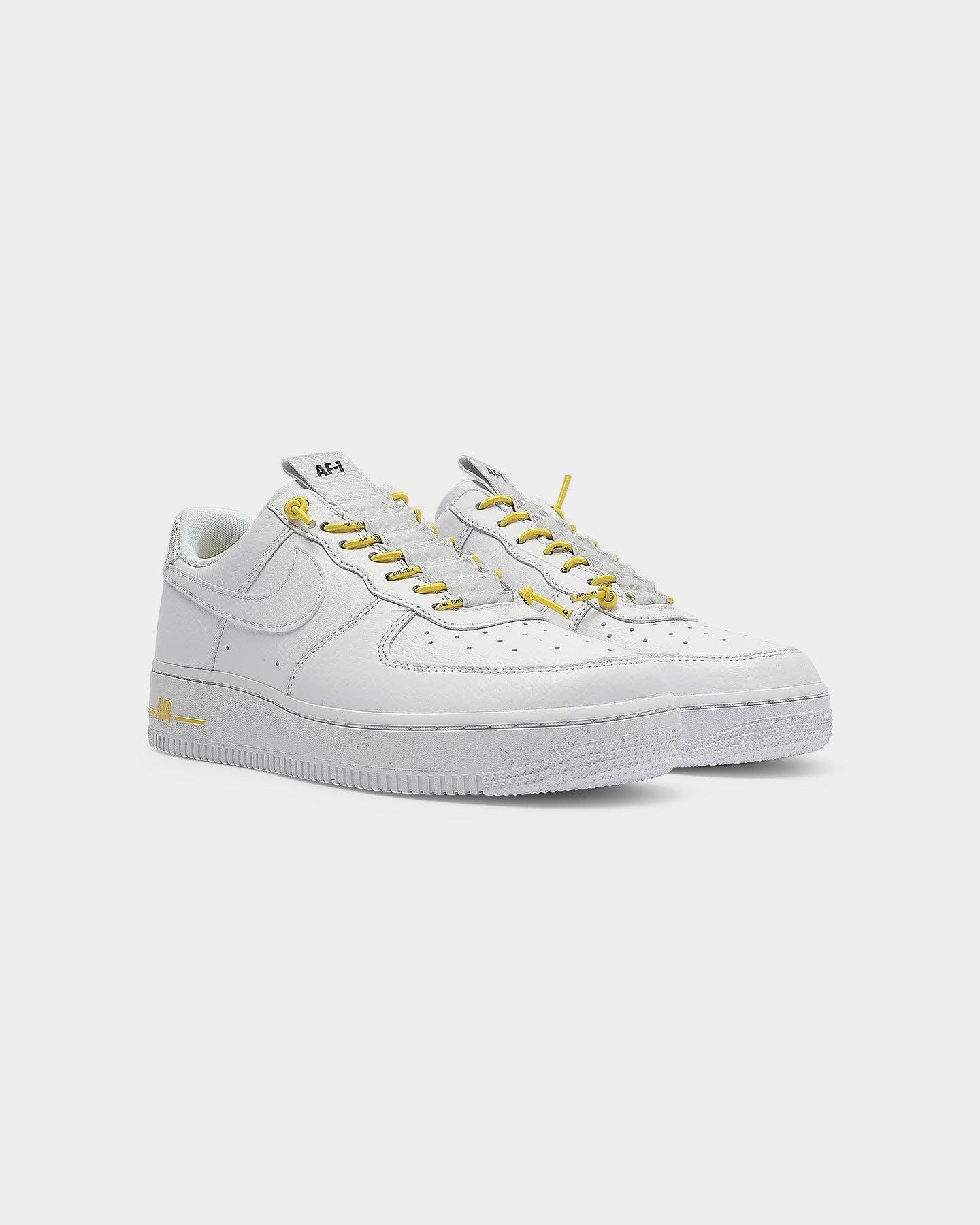 Nike Women's Air Force 1 '07 LUX White/Yellow//Black