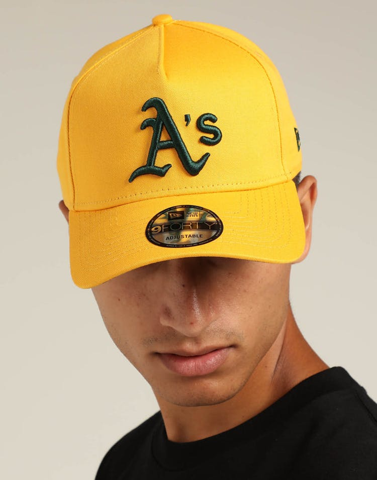 New Era Oakland Athletics 9FORTY A-Frame Snapback Gold/Dark Green