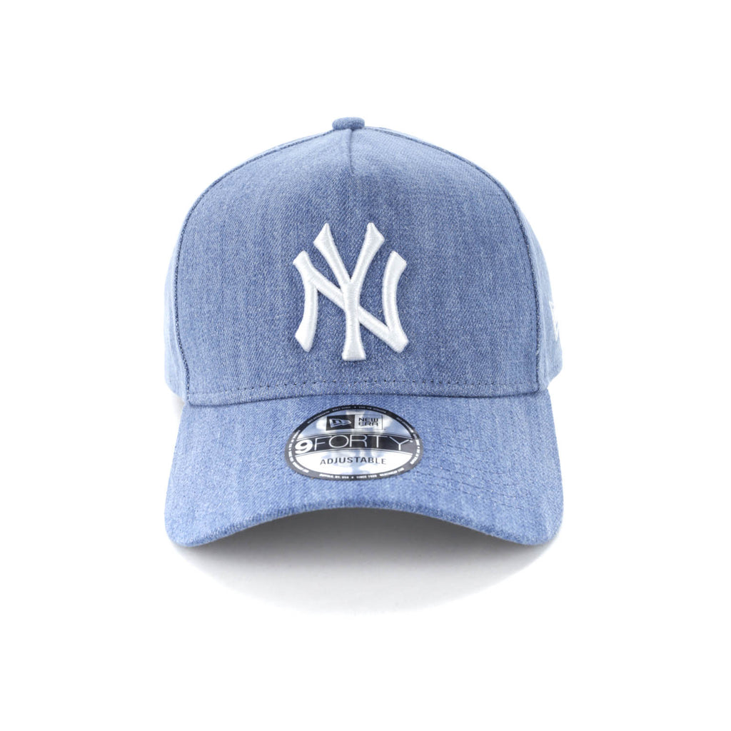 ff8dfd7993824 good a stretch bold stripe cap ecf5d c2d8d  promo code for new era new york  yankees 9forty a frame snapback light denim white ee779