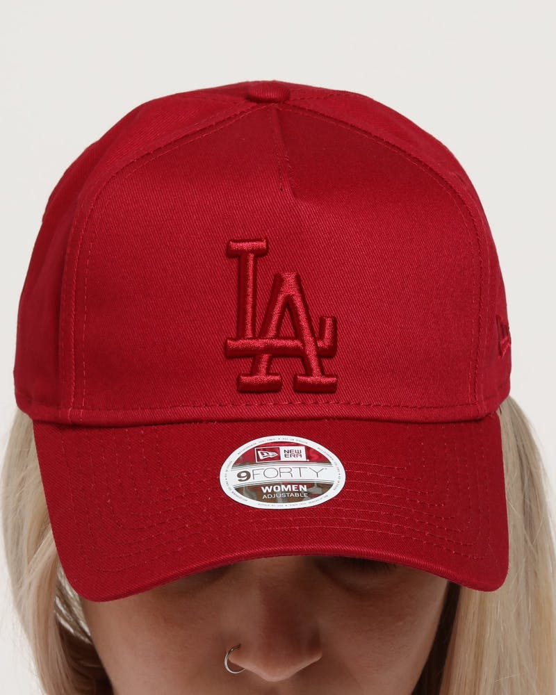 New Era Women's Los Angeles Dodgers 9FORTY A-Frame Strapback Crimson