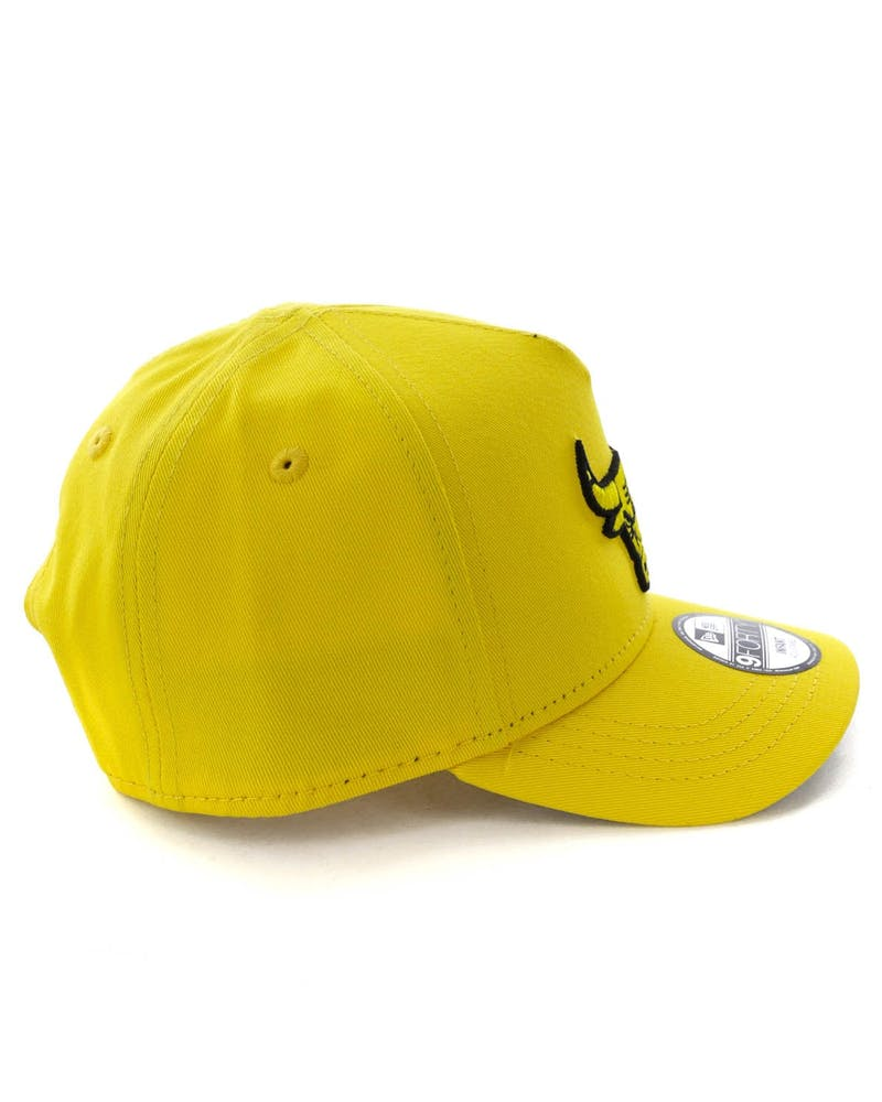 New Era Infant Chicago Bulls 9FORTY A-Frame Snapback Yellow/Black