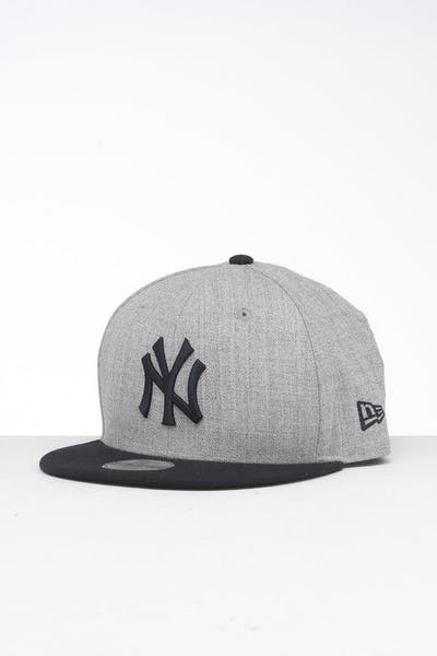 New Era Youth New York Yankees 9FIFTY Snapback Heather Grey/Navy