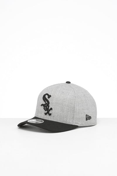 New Era Chicago White Sox 9FIFTY Precurved Snapback Heather Grey/Black