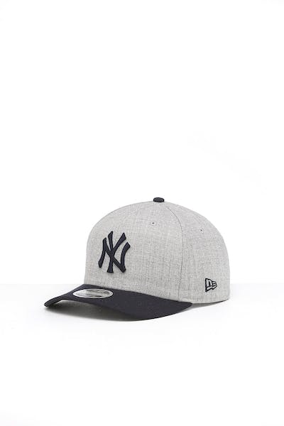 New Era New York Yankees 9FIFTY Precurved Snapback Heather Grey/Navy