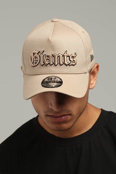 New Era New York Giants 9FORTY A-Frame Snapback Tan/Black