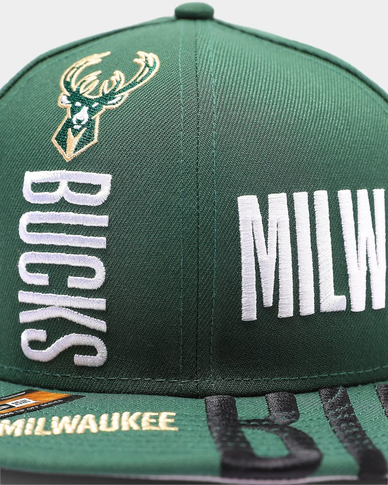 New Era Milwaukee Bucks 9FIFTY 19 Tip Off Snapback Green