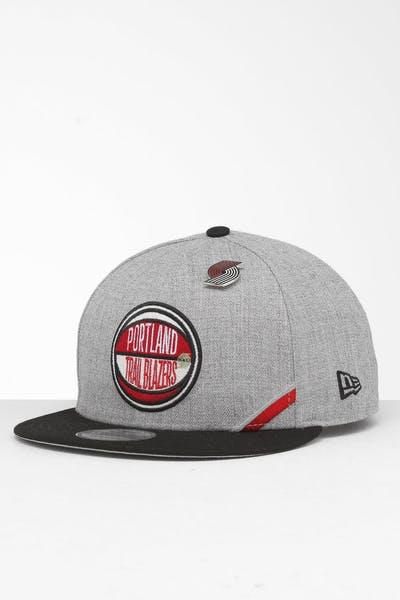 newest 151b7 6c862 New Era Portland Trail Blazers 9Fifty NBA Draft Snapback Black OTC ...