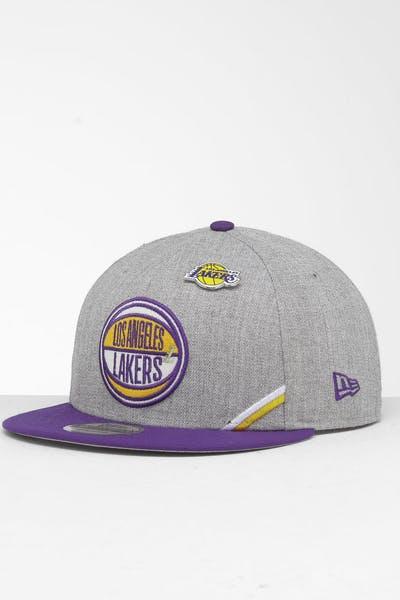 new york 245a7 de6fd New Era Los Angeles Lakers 9Fifty NBA Draft Snapback Royal OTC ...