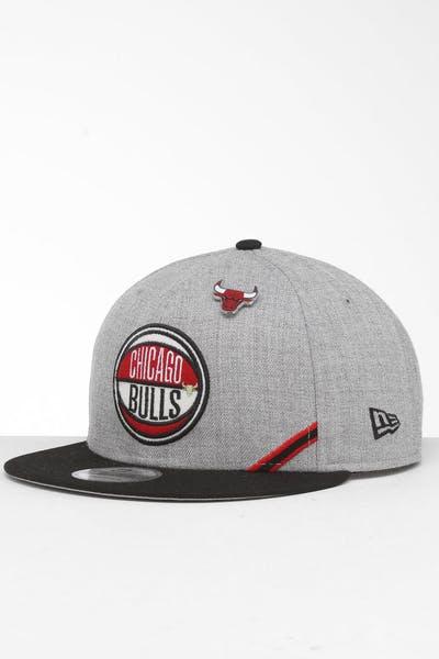 info for e265d 4f6d0 New Era Chicago Bulls 9Fifty NBA Draft Snapback Black OTC ...