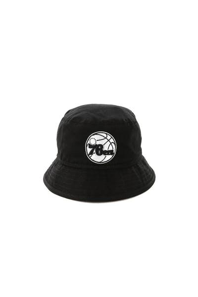 b9eb89a12c6 New Era Infant Philadelphia 76ers Bucket Hat Black White