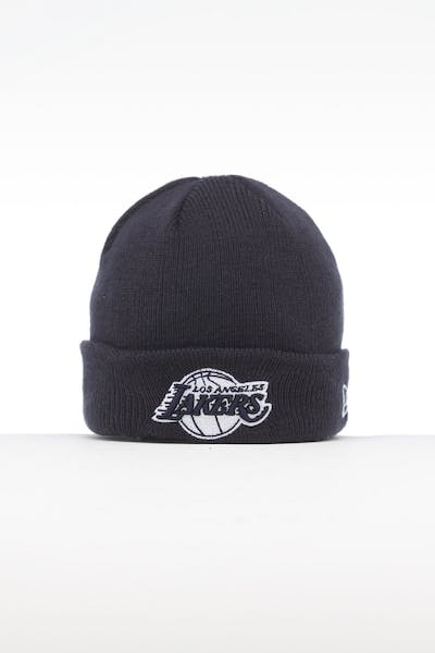 New Era Infant Los Angeles Lakers 6 Dart Cuff Beanie Navy/White