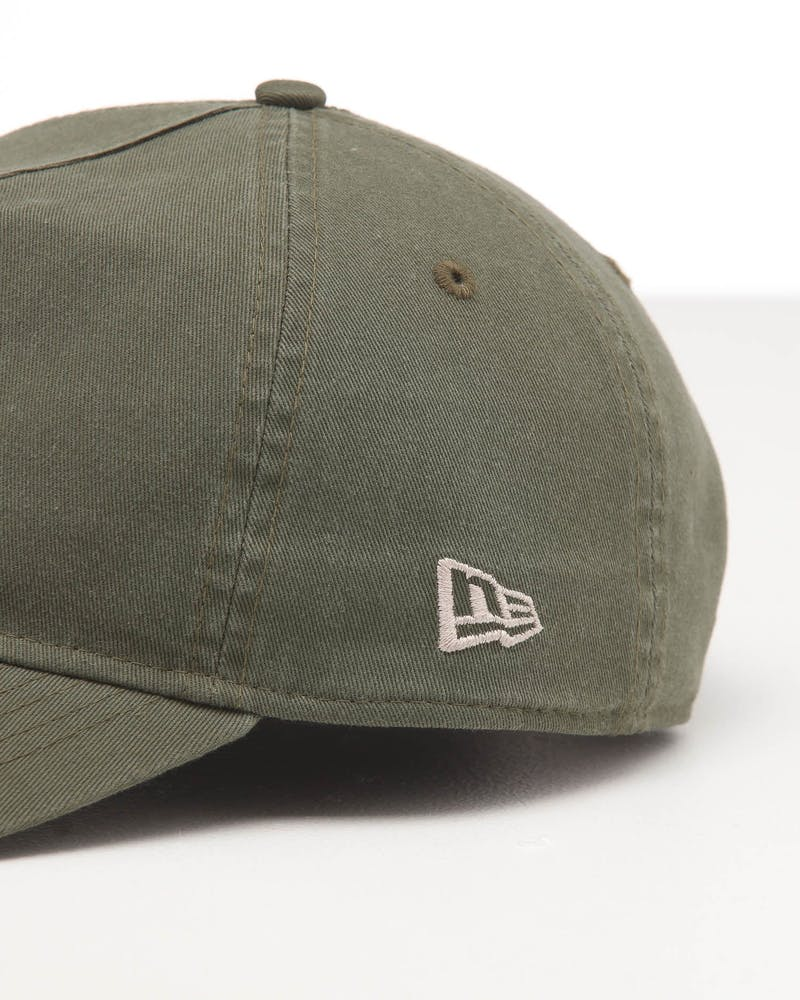 New Era Boston Red Sox 9FORTY A-Frame Snapback Washed Olive