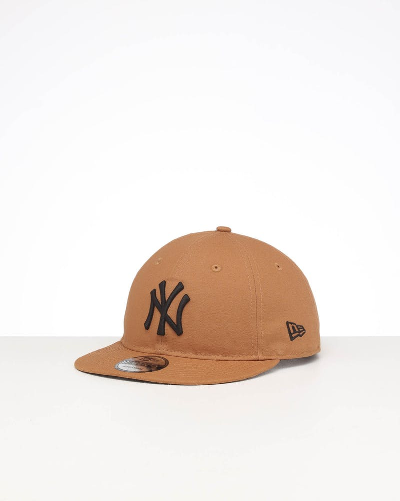 New Era New York Yankees 9TWENTY Flat Visor Cotton Snapback Bronze