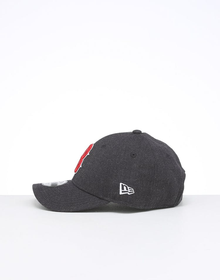 New Era Kids Boston Red Sox 9FORTY Hook & Loop Heather Navy