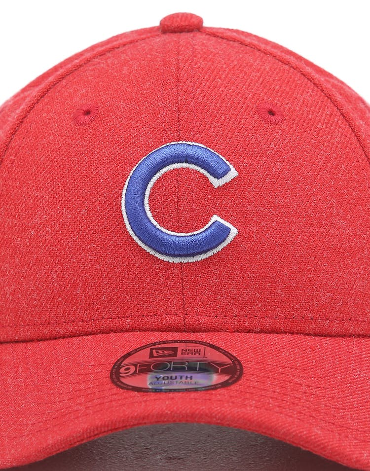 New Era Kids Chicago Cubs 9FORTY Hook & Loop Heather Scarlet