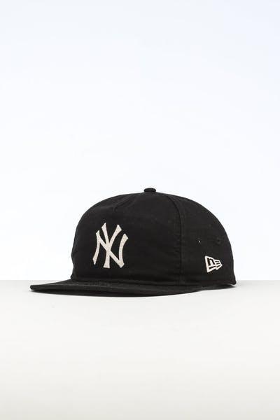 a82adc60f19a72 New Era New York Yankees 9FIFTY A-Frame Chainstitch Snapback Dark Black  Ivory