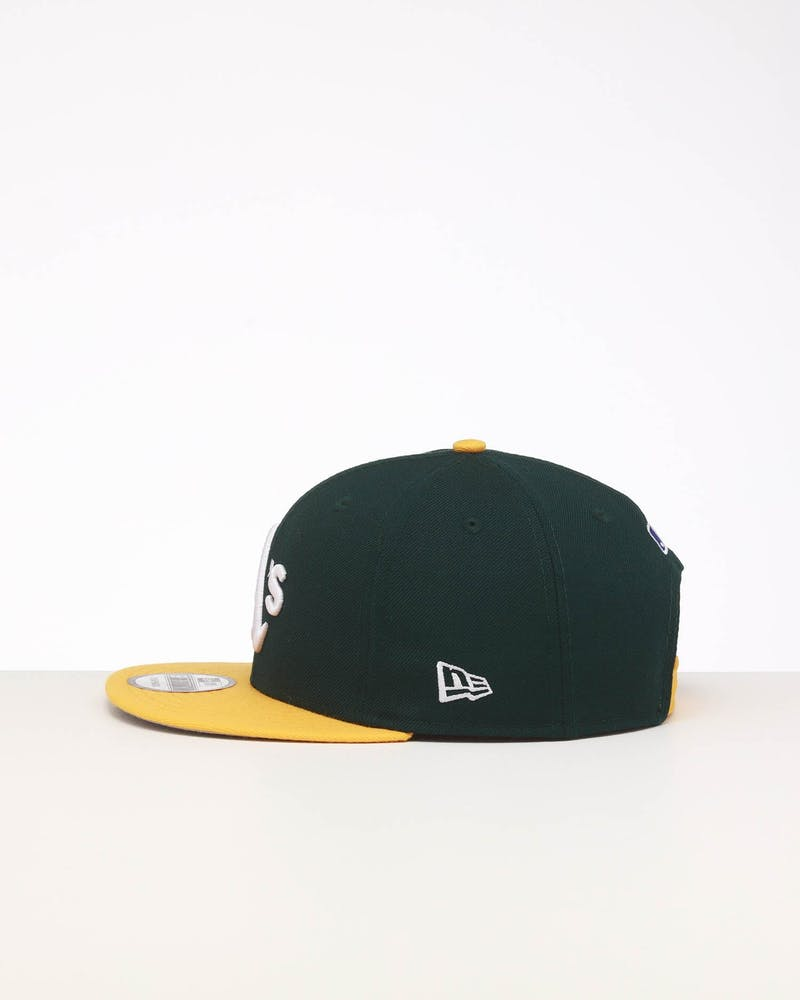 New Era Oakland Athletics 9FIFTY SWAROVSKI '89 Snapback Green/Yellow