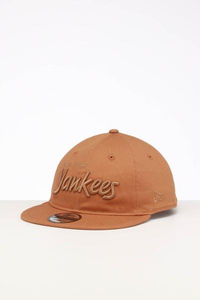 7442ef8ed9c4ca New Era New York Yankees 9TWENTY FV Script Strapback Wheat/Tonal ...