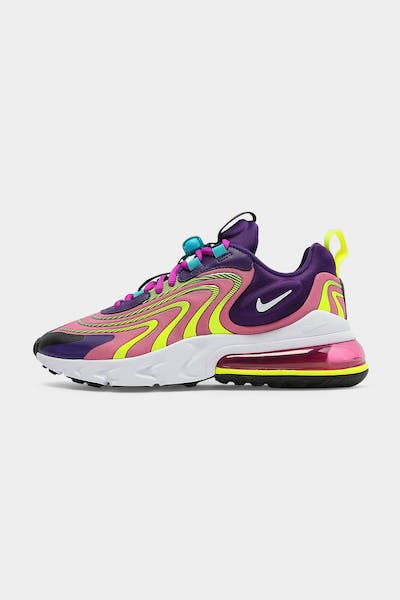 Nike Women's Air Max 270 React ENG Eggplant/White