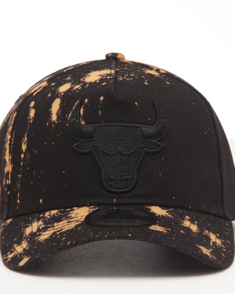 NEW ERA CHICAGO BULLS 9FORTY A-FRAME ACIDWASH SNAPBACK BLACK