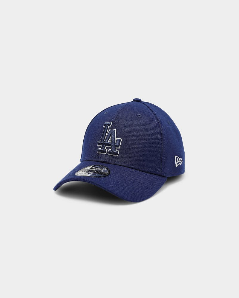 New Era Los Angeles Dodgers 39THIRTY Logo Fitted Dark Royal
