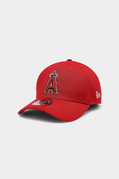 New Era Los Angeles Angels 39THIRTY Logo Fitted Scarlet