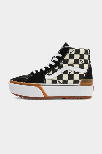 Vans Women's SK8-HI Stacked Checker Black/White