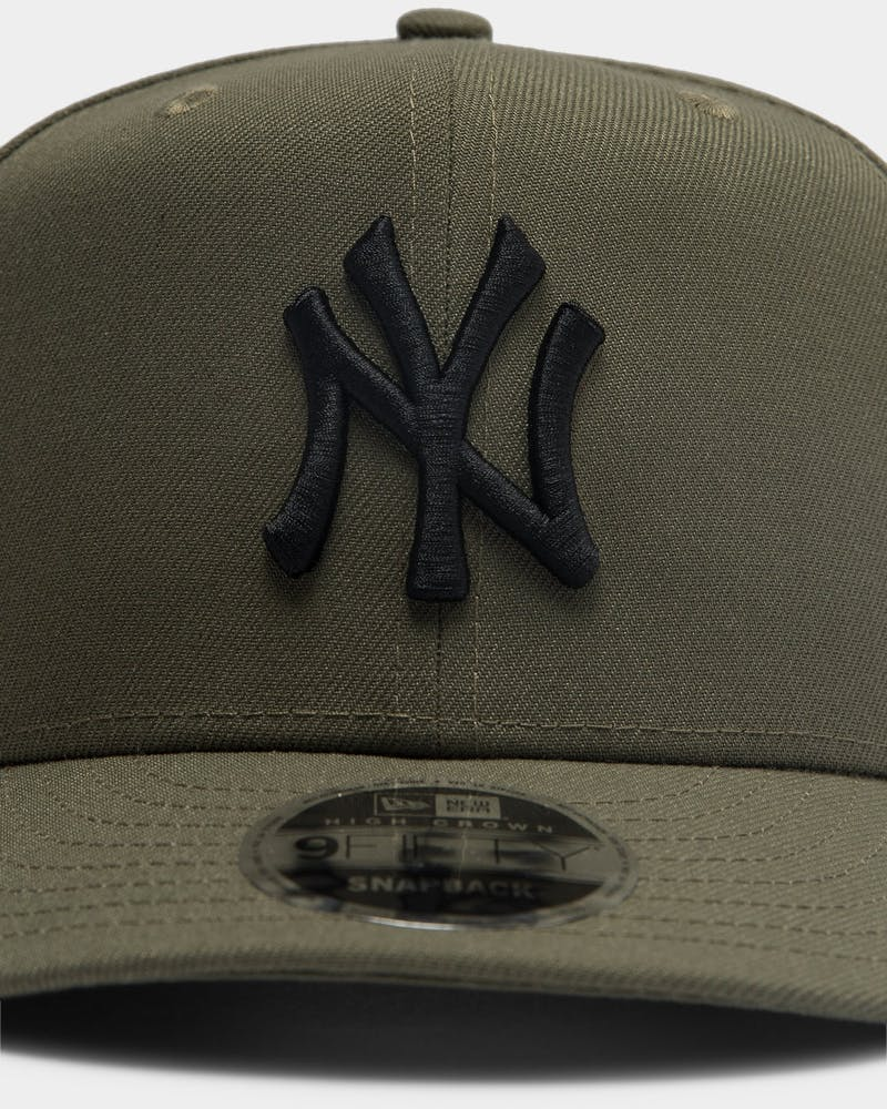 New Era New York Yankees 9FIFTY High Crown Precurved Snapback Olive/Black