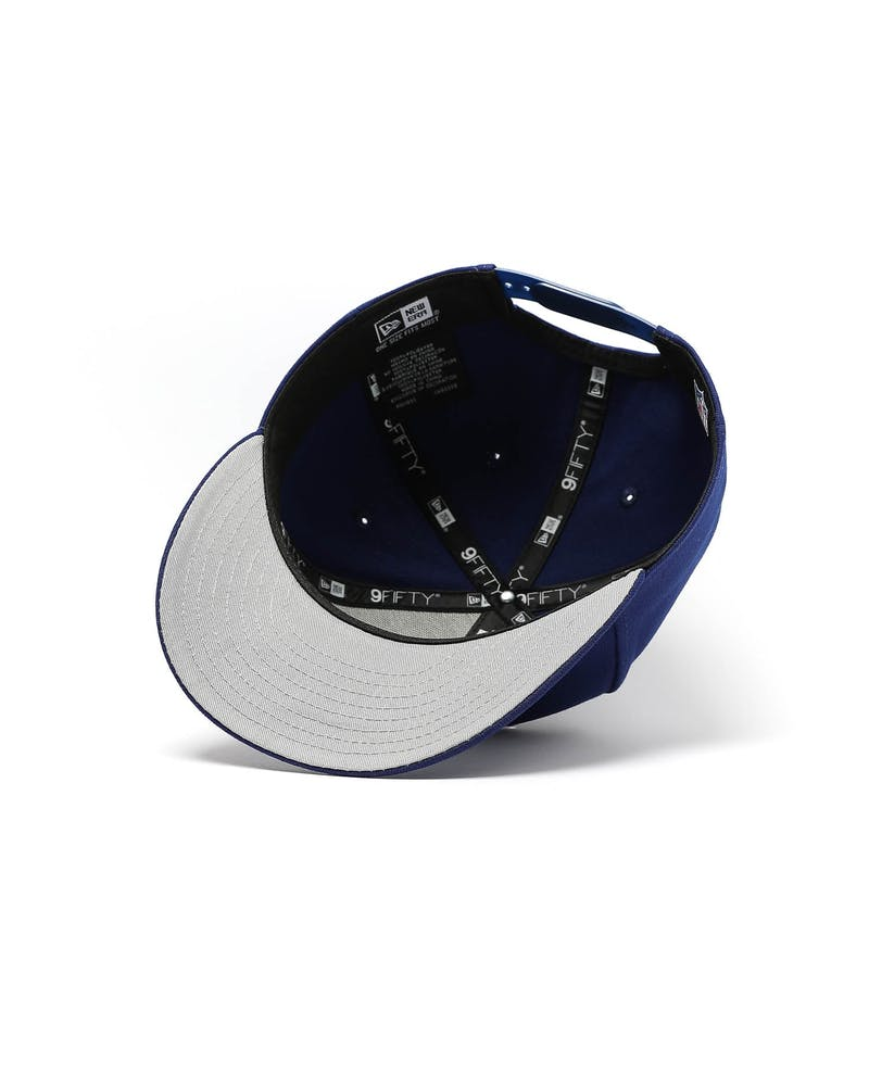 New Era New York Yankees 9FIFTY High Crown Precurved Snapback Dark Royal/White