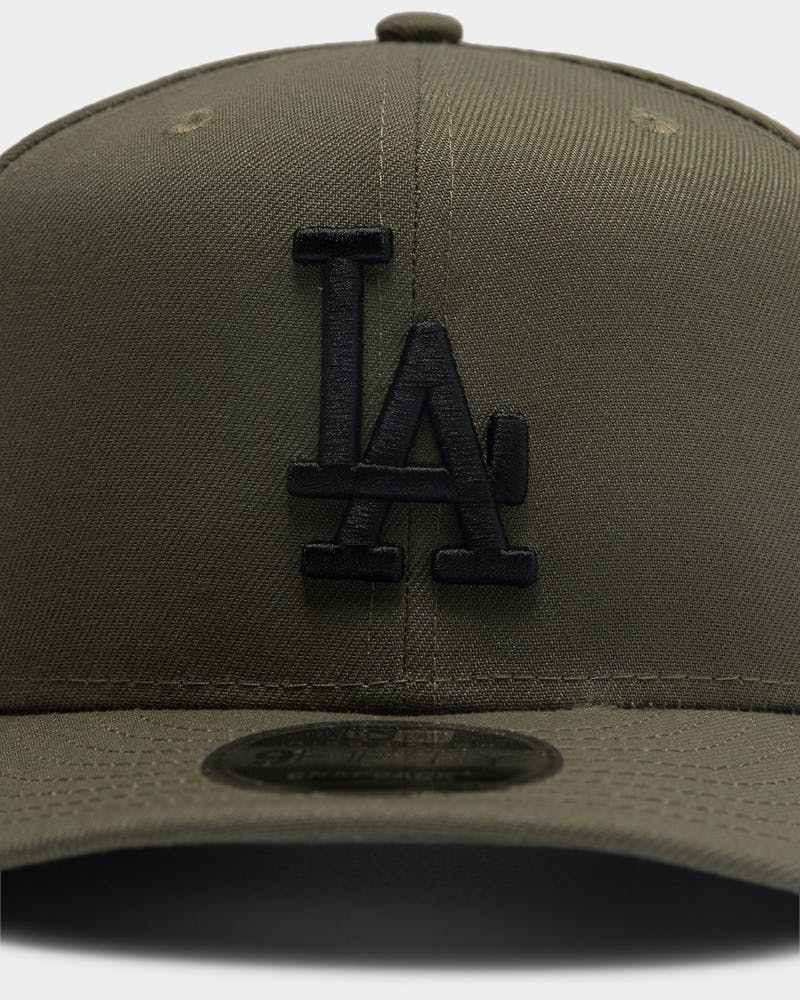 New Era Los Angeles Dodgers 9FIFTY High Crown Precurved Snapback Olive/Black