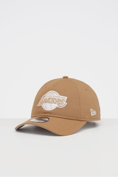 NEW ERA LOS ANGELES LAKERS 9TWENTY STRAPBACK WHEAT/WHITE