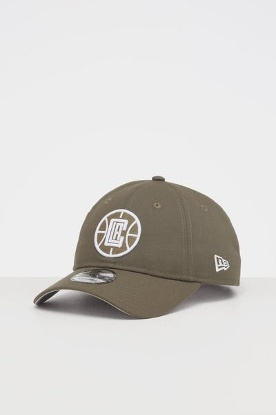 NEW ERA LOS ANGELES CLIPPERS 9TWENTY STRAPBACK OLIVE/WHITE