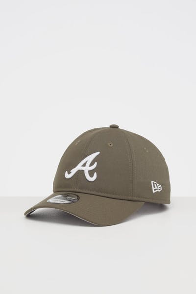 NEW ERA ATLANTA BRAVES 9TWENTY STRAPBACK OLIVE/WHITE
