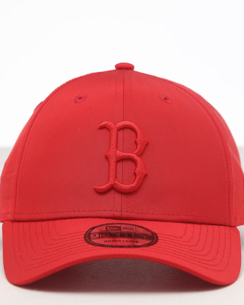 New Era Boston Red Sox 9FORTY Nylon Snapback Scarlet