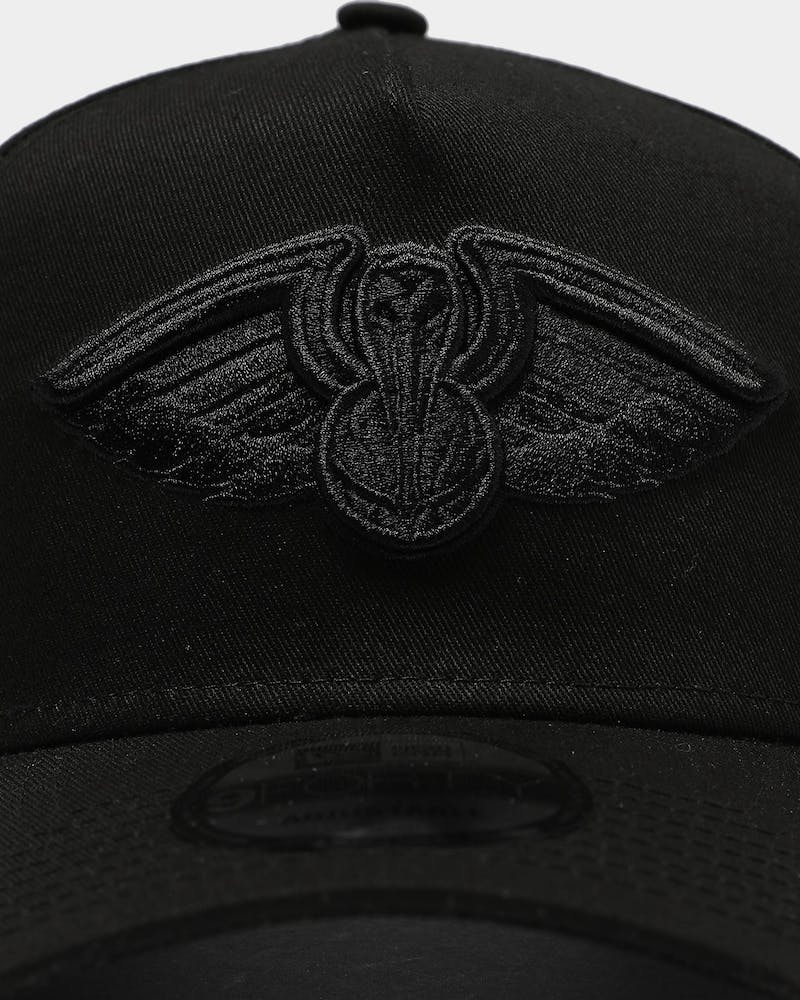 New Era New Orleans Pelicans 9FORTY A-Frame Snapback Black/Black