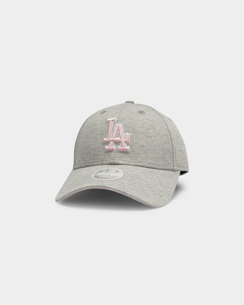 New Era Women's Los Angeles Dodgers Soft Pink 9FORTY Strapback Heather Grey