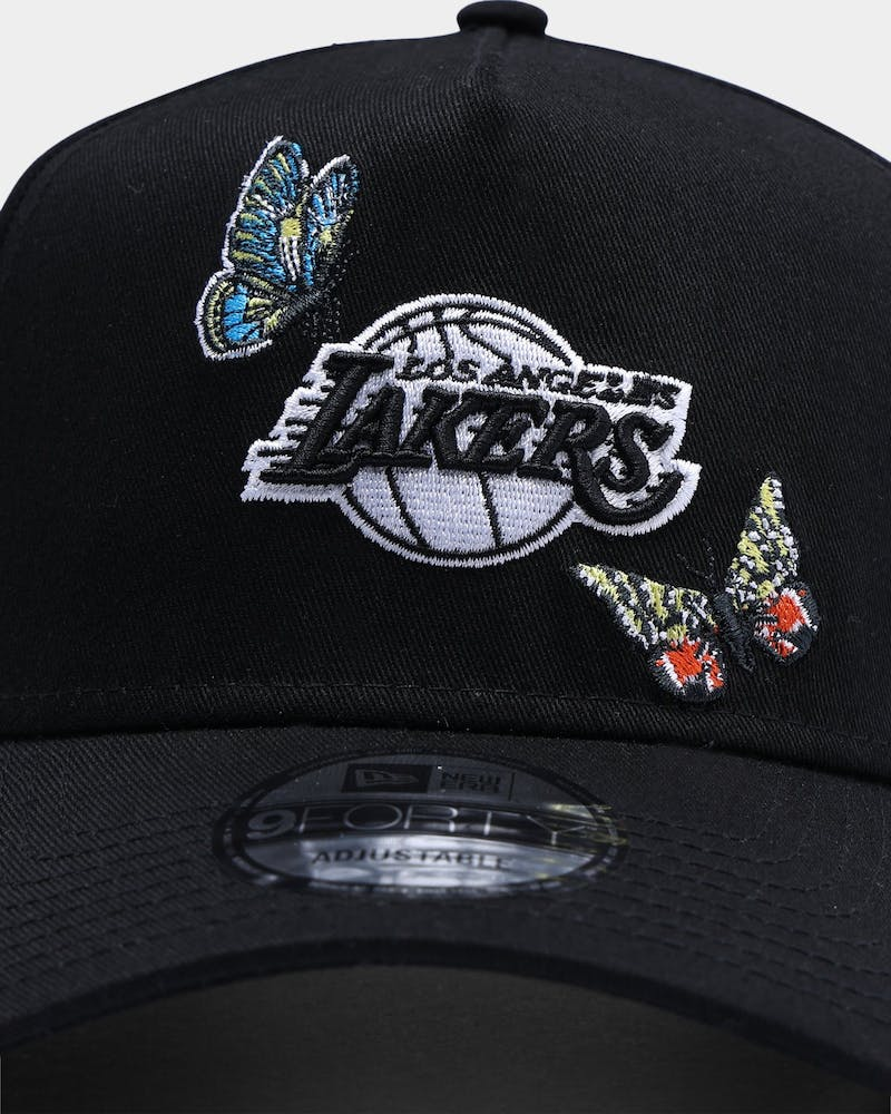 "New Era Los Angeles Lakers ""Butterfly Logo"" 9FORTY A-Frame Snapback Black"