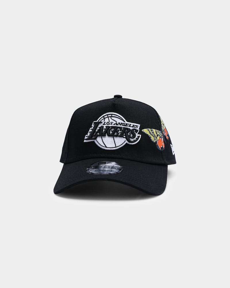"New Era Los Angeles Lakers ""Butterfly Accent"" 9FORTY A-Frame Snapback Black"