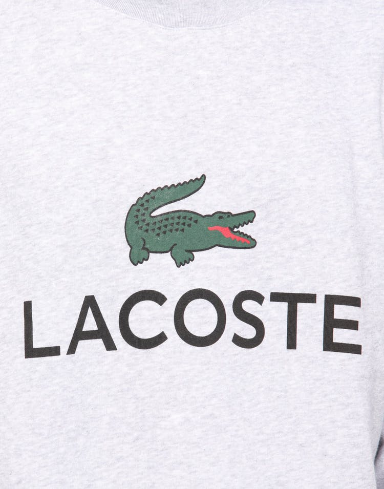 Lacoste Crew Neck Logo Sweat Silver