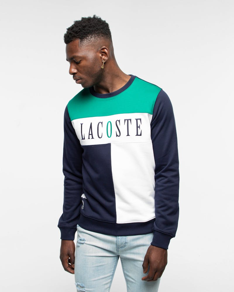Lacoste RG Panel Logo Sweat Gingham Aurora