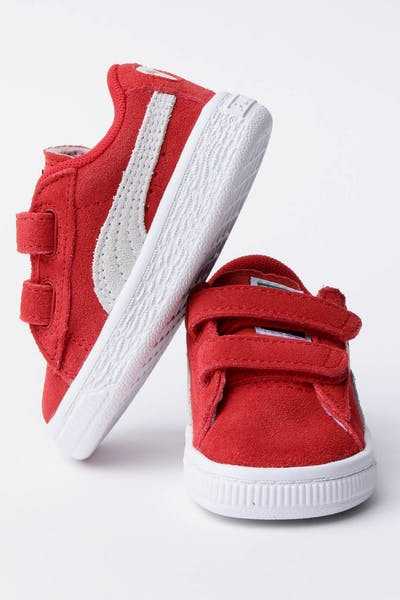 Puma Infant Puma Suede Red/White