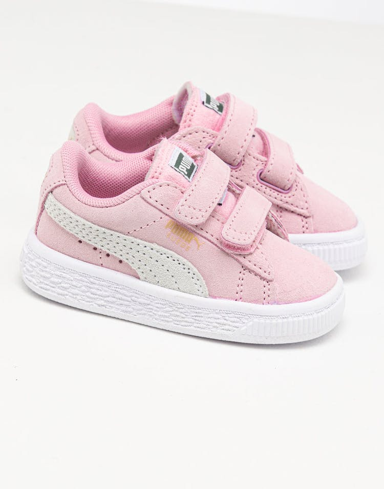 Puma Infant Suede 2 Straps Pink/Gold