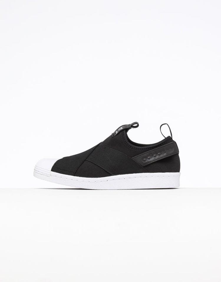 best website 4b53f 3d74a Adidas Women's Superstar Slip On Black/Black/White