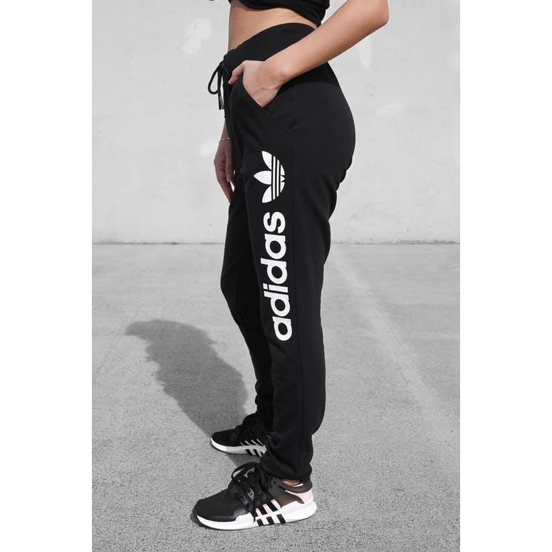 1e1465b2 Adidas Originals Womens Light Logo Track Pants Black