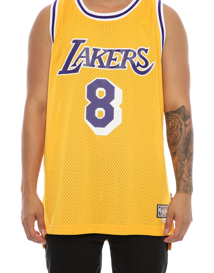 dc4e0673c Adidas Hardwood Classics Retired Jersey Los Angeles Lakers Kobe Bryant  8   Yellow
