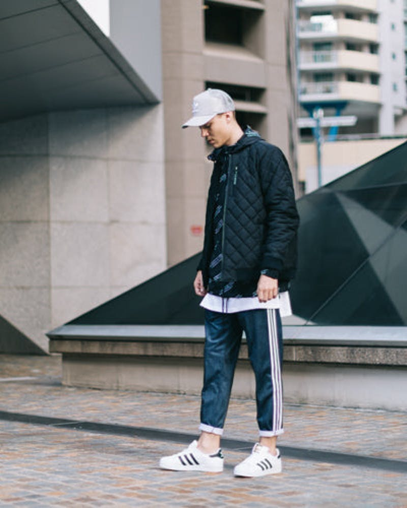 ADIDAS ORIGINALS SEVEN-EIGHTH TRACK PANTS INDIGO