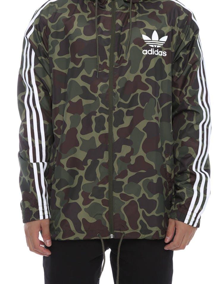 entire collection new cheap in stock Adidas Originals Camo Windbreaker Camo/White