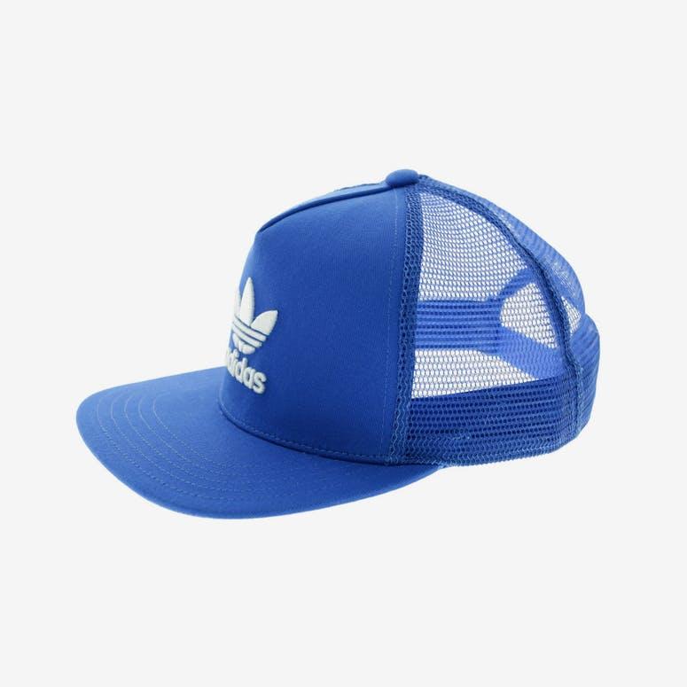 07204055ad0 Adidas Originals Women s Trefoil Flat Peak Trucker Blue – Culture ...